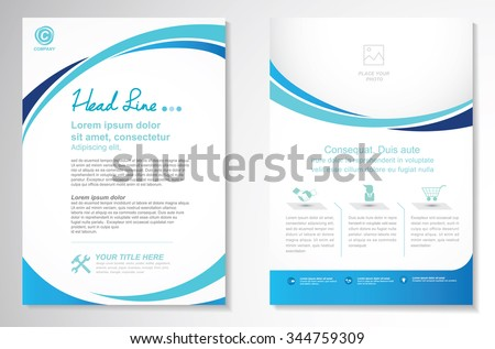 easy brochure template - vector brochure flyer design layout template stock vector
