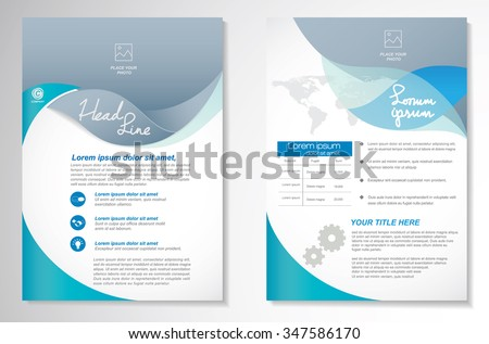 Vector Brochure Flyer design Layout template, size A4, Front page and back page, Easy to use and edit. - stock vector
