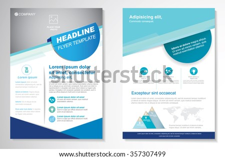 Vector Brochure Flyer Design Layout Template Stock Vector 357307499 ...