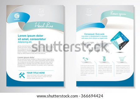 Vector Brochure flyer design Layout template, size A4, Front page and back page, infographics. Easy to use and edit. - stock vector