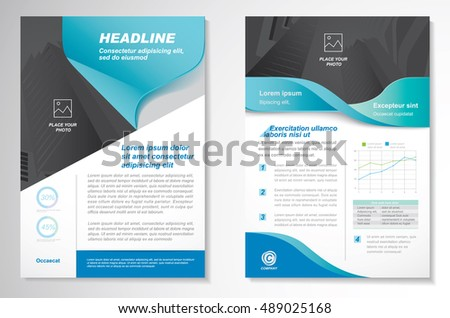 Infographic Ideas easy infographic template : Vector Brochure Flyer Design Layout Template Stock Vector ...