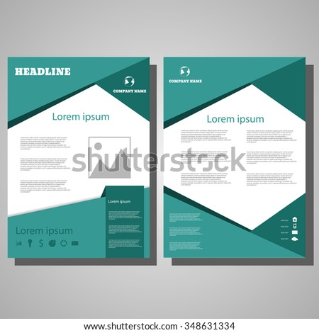 Vector Brochure Flyer design Layout template, size A4, Front page and back page, infographics eps 10 - stock vector