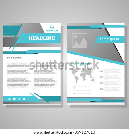 Vector Brochure Flyer design Layout template, size A4, Front page and back page, infographics. eps 10 - stock vector
