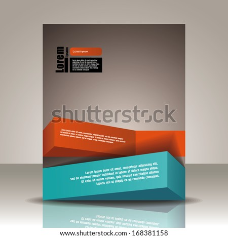 Vector  brochure, flyer, magazine cover & poster template - stock vector