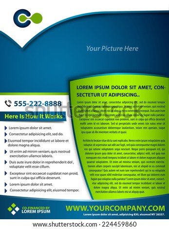Vector brochure, flyer, magazine cover & poster template. - stock vector