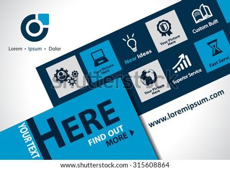 Vector brochure, flyer, magazine cover & poster template. - stock vector