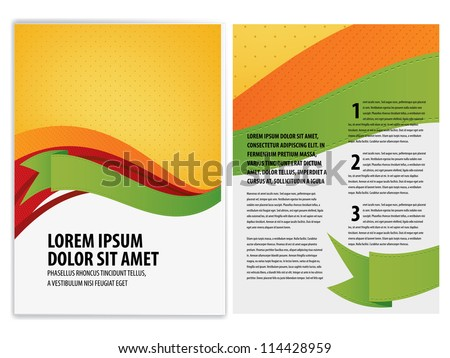 Vector Brochure Flyer Template Stock Vector Shutterstock - Brochure flyer templates