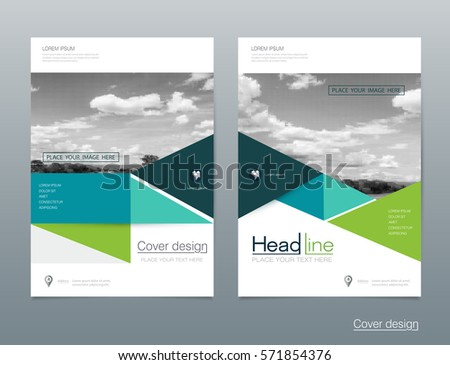 Vector Brochure Flyer Template Layout In A4 Size. Business Annual Report.  Flier, Leaflet  Pamphlet Layout Template