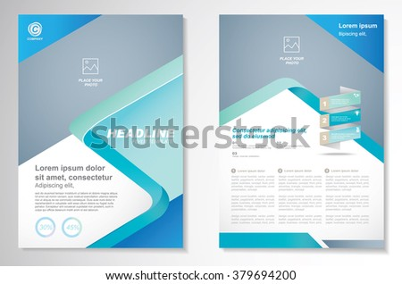 Vector Brochure Flyerdesign Layout template, size A4, Front page and back page, Easy to use and edit. - stock vector
