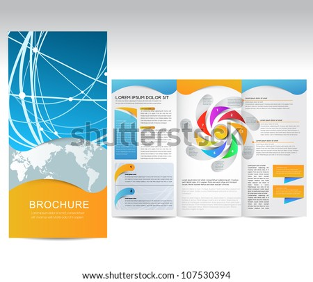 Vector Brochure, illustration - stock vector