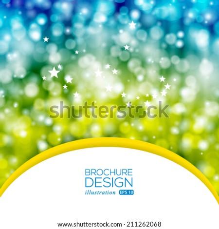 Vector brochure layout design template. - stock vector