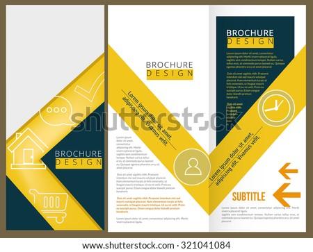 Vector Brochure Layout Design Template - stock vector
