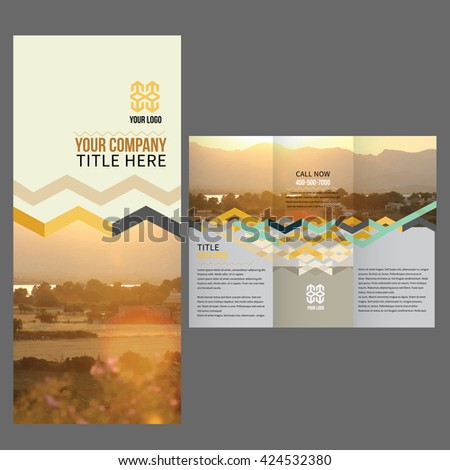 Vector Brochure Layout Design Template