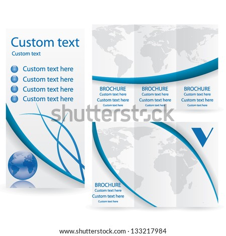 Vector Brochure Layout Design Template business - stock vector