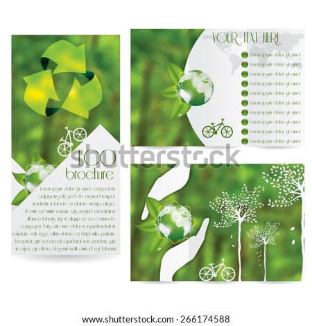 Vector Brochure Layout Design Template green environmental