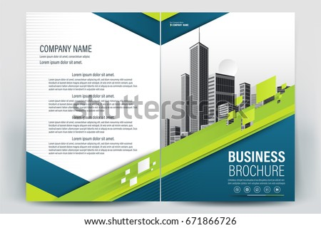 Vector Brochure Layout Flyers Design Template Stock Vector
