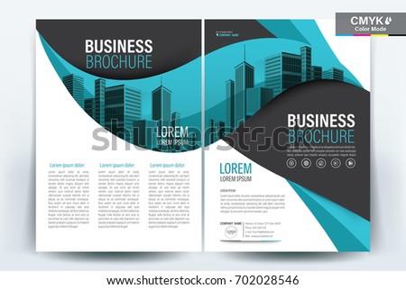 Vector Brochure Layout Flyers Design Template Stock Vector 702028546 ...