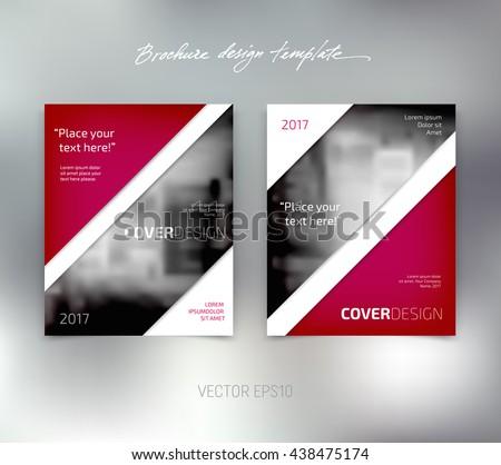 Vector brochure or booklet design template. Business concept. Flyer idea. - stock vector