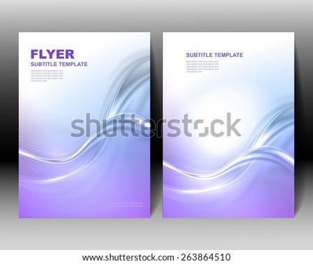 Vector brochure template blue design - stock vector