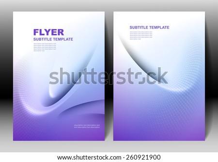 Vector brochure template design - stock vector
