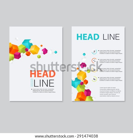Vector brochure template design.  Abstract Backgrounds,Flat Infographic Concept.