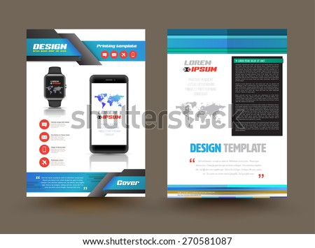 Product leaflet stock images royalty free images vectors vector brochure template design for technology product business graphics brochures used for cover layout pronofoot35fo Gallery