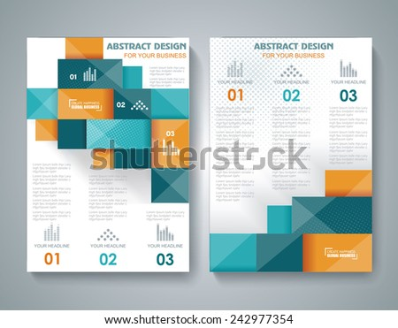 Vector brochure template design with 3d elements. - stock vector