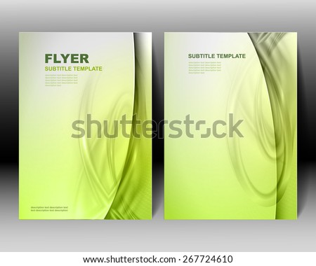 Vector brochure template green design - stock vector