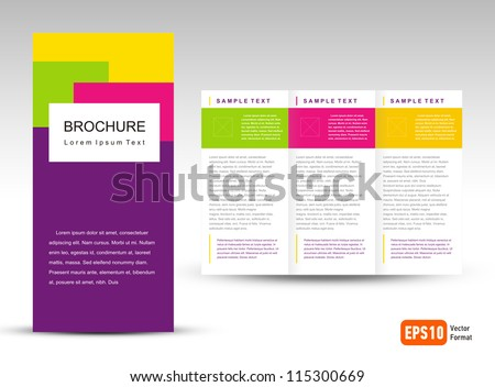 Vector Brochure Tri-fold Layout Design Template