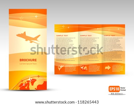 Travel brochure stock images royalty free images for Vacation brochure templates