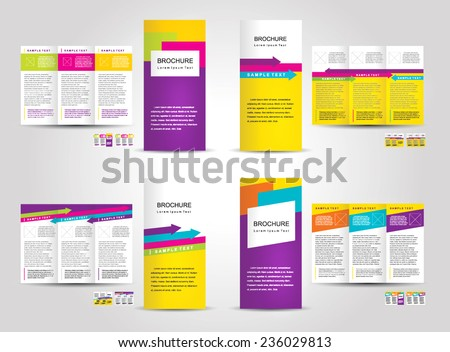 Trifold brochure stock images royalty free images for Colorful brochure templates