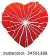 vector broken heart - stock photo