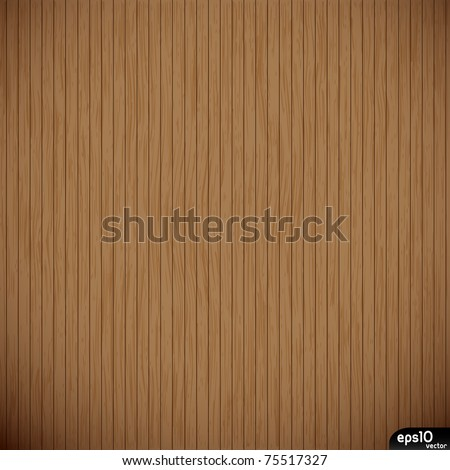 Vector brown wooden planks background - stock vector