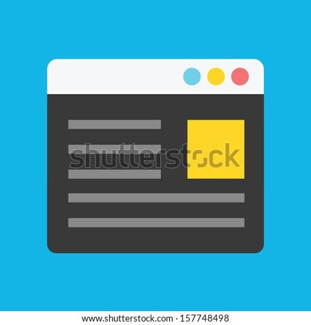 Vector Browser Icon - stock vector