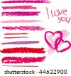 Vector brush made by line lipstick - stock photo