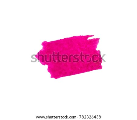 Vector brush stokes watercolor background . color hot pink, magenta,violet