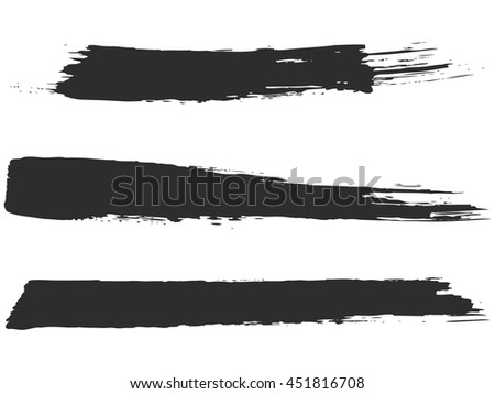 Vector brush stroke - stock vector