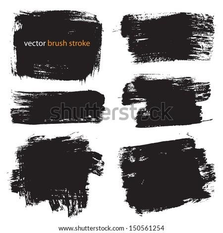 vector brush stroke VOL 1 - stock vector