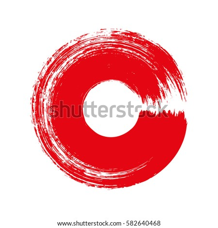 vector brush strokes circles of paint on white background