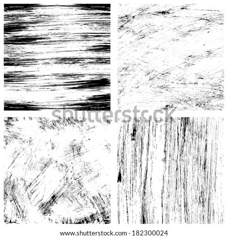Vector brush texture set - stock vector