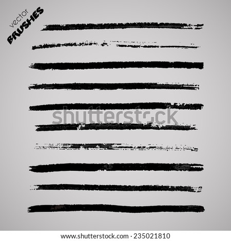 Vector brushes - stock vector