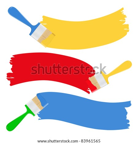 Vector brushes and paint - stock vector
