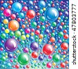 Vector Bubble background - stock vector