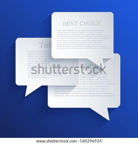 Vector bubble speech background. Eps10 - stock vector