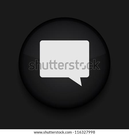 Vector Bubble speech icon. Eps10. Easy to edit - stock vector