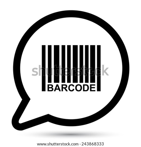 Vector bubble with bar-code icon
