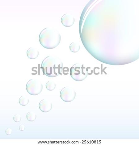 Vector bubbles - stock vector