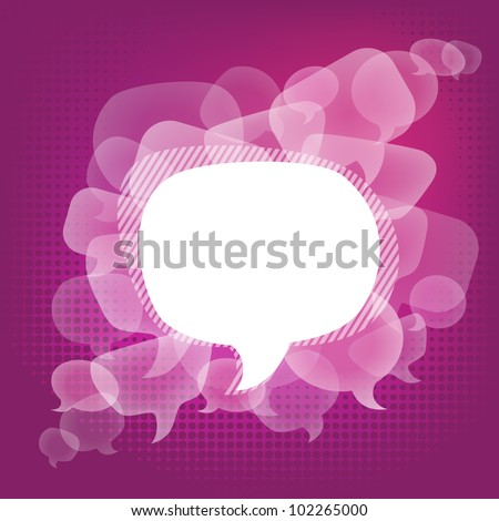 vector bubbles for speech eps10. Abstract background. - stock vector