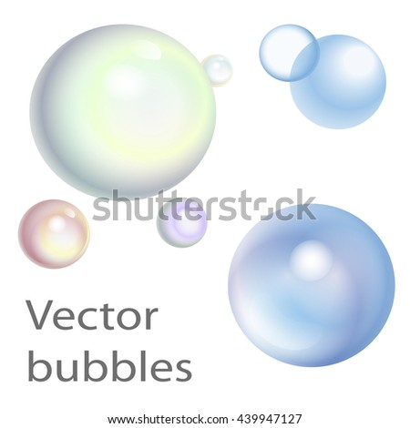 Vector bubbles. The elements of design.