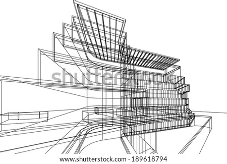 vector building architecture - stock vector